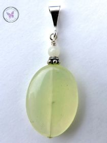 Pale Green Oval Jade Pendant